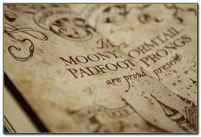 Harry Potter Marauders Map Mischief Managed