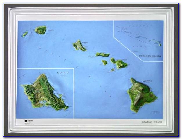 Hawaii Island Relief Map
