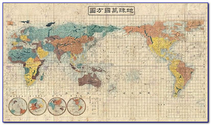 High Resolution Vintage World Map