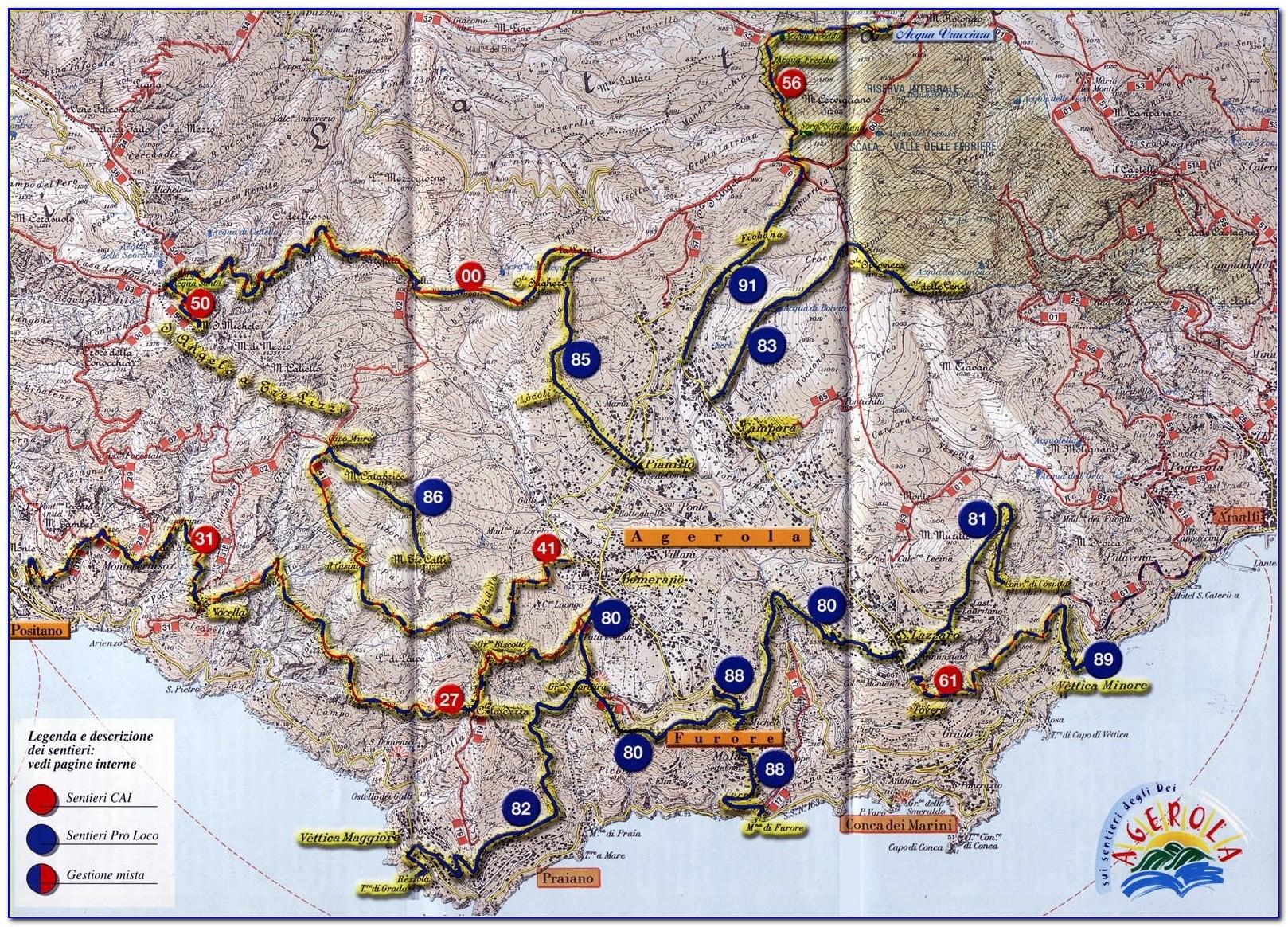 Hiking Maps Lake Como Italy