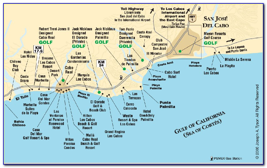 Hilton Los Cabos Hotel Map