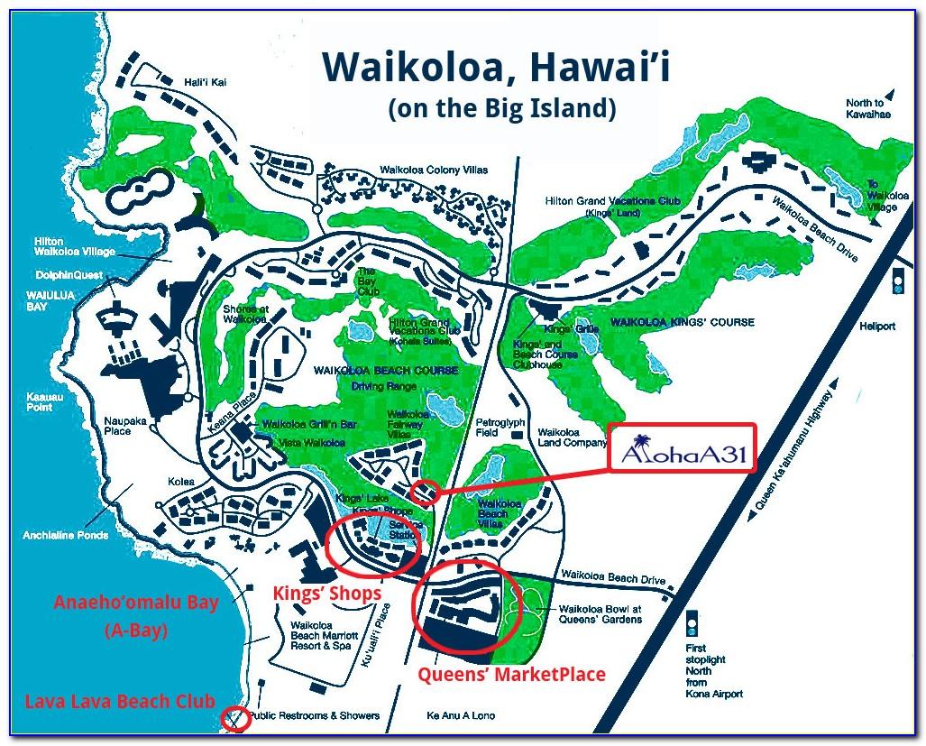 Hilton Waikoloa Hotel Map