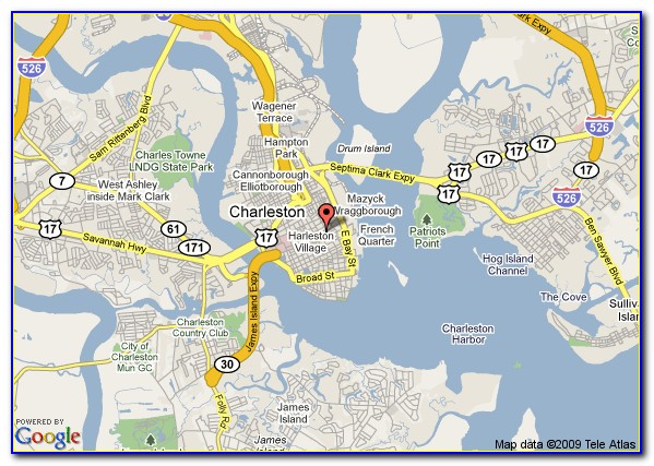 Historic Charleston City Map