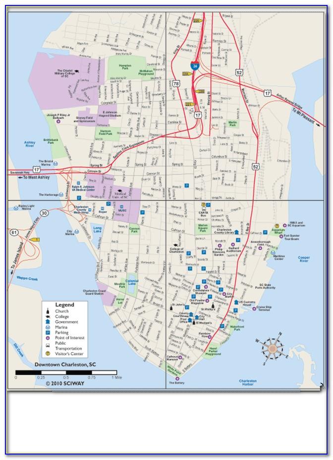 Historic Charleston Walking Tour Map