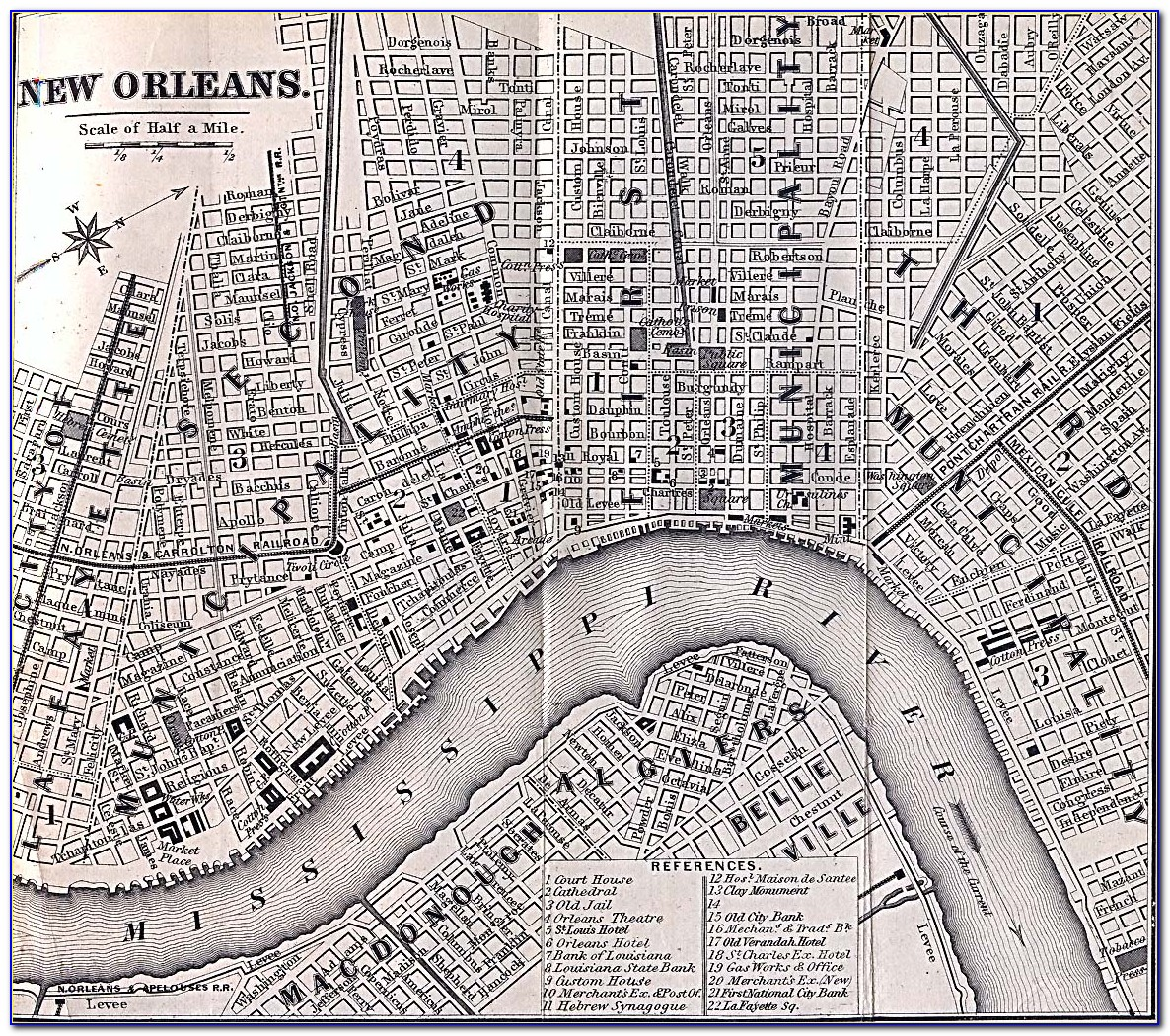 Historic Maps Of New Orleans