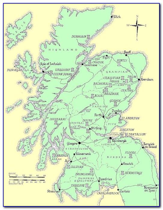 Historic Scotland Castles Map