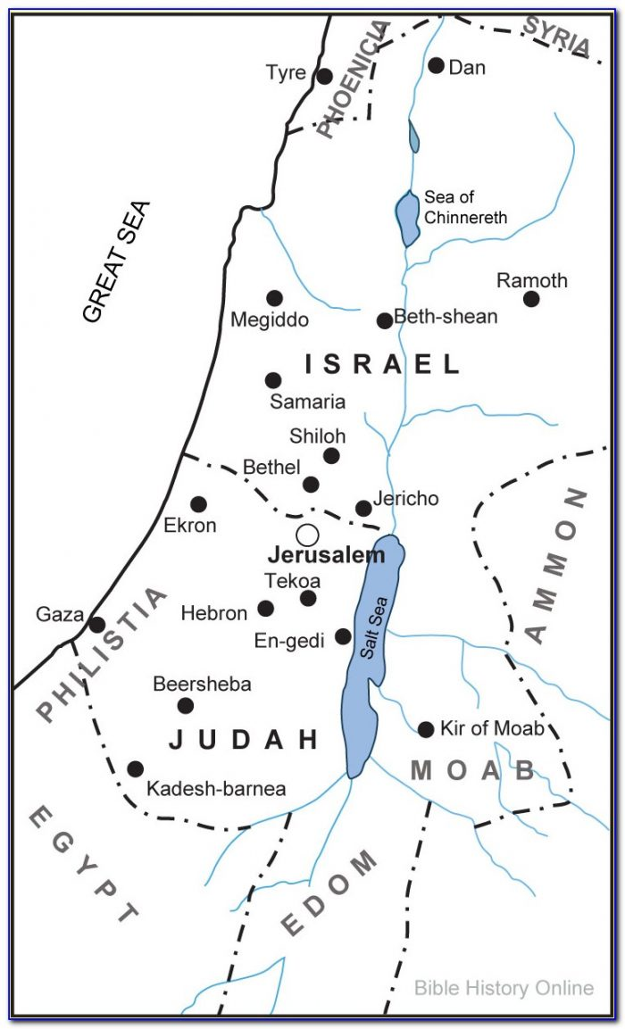 Historical Maps Of Ancient Israel