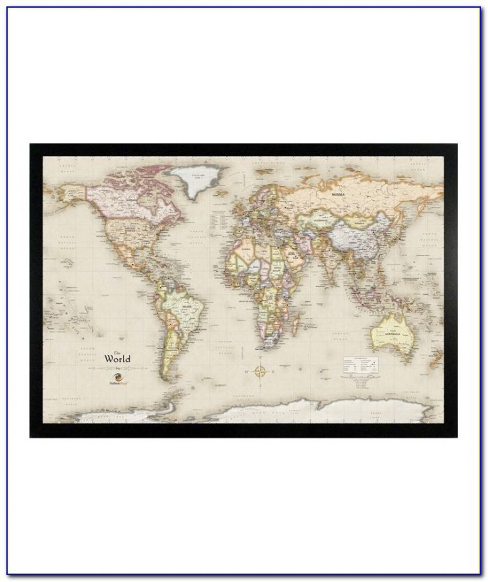 Home Magnetics World Magnetic Pin Travel Map With 50 Pins
