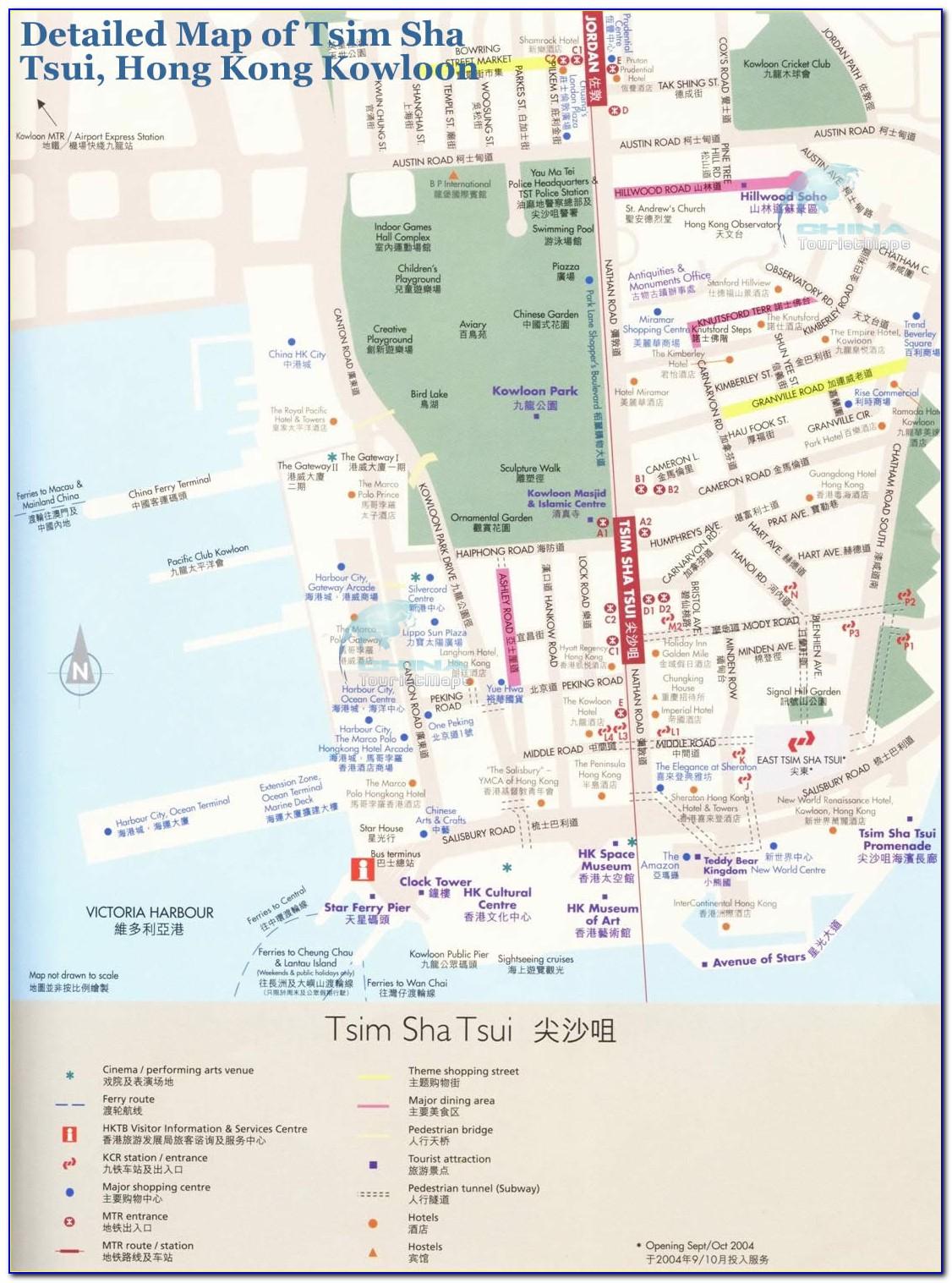Hong Kong Tsim Sha Tsui Hotel Map