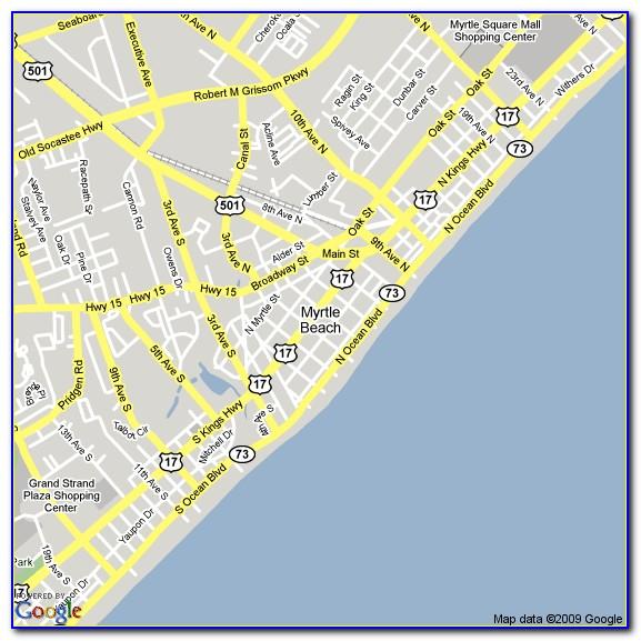 Hotel Map Of North Myrtle Beach Sc
