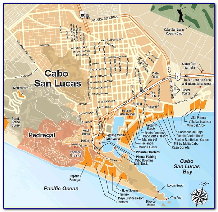 Hotel Riu Palace Cabo San Lucas Map