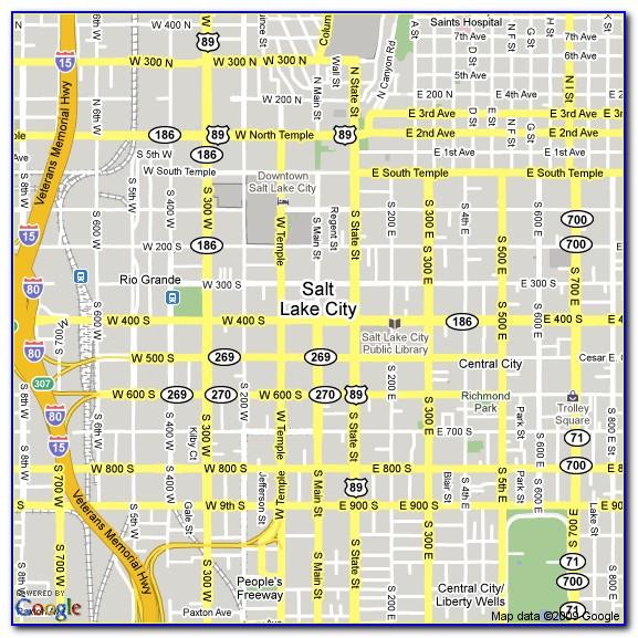Hotels Downtown Salt Lake City Map