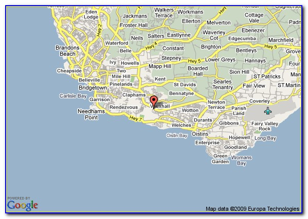 Hotels In St.lawrence Gap Barbados Map