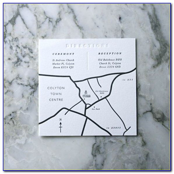 How To Draw Maps For Wedding Invitations