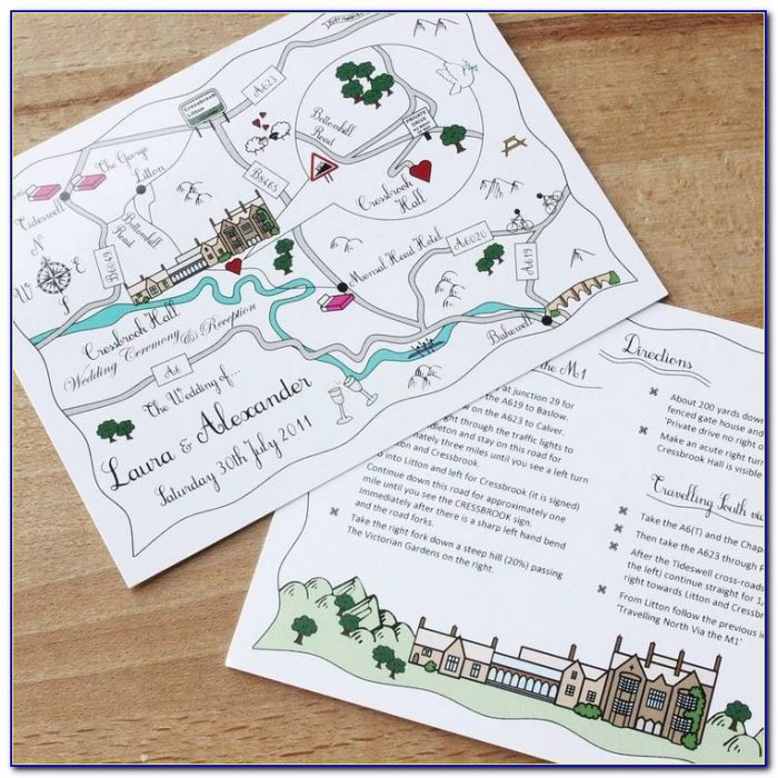 How To Make Map Cards For Wedding Invitations