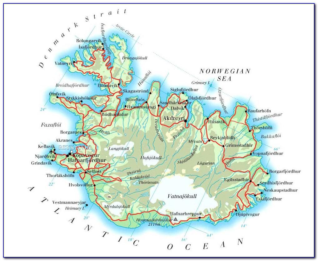 Iceland F Road Maps