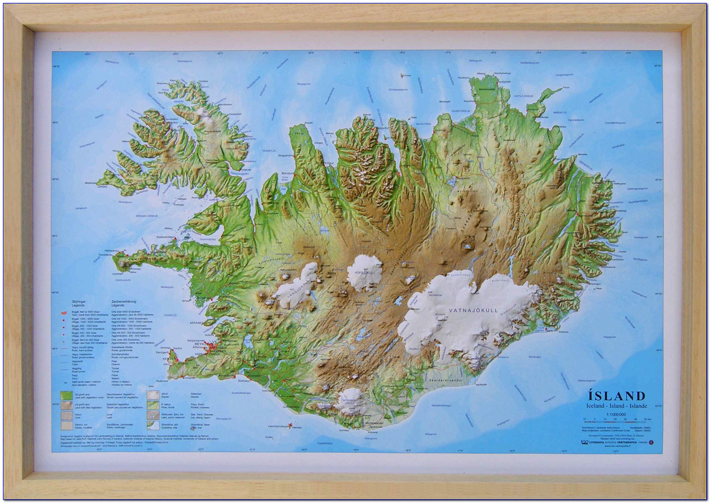 Iceland Raised Relief Map