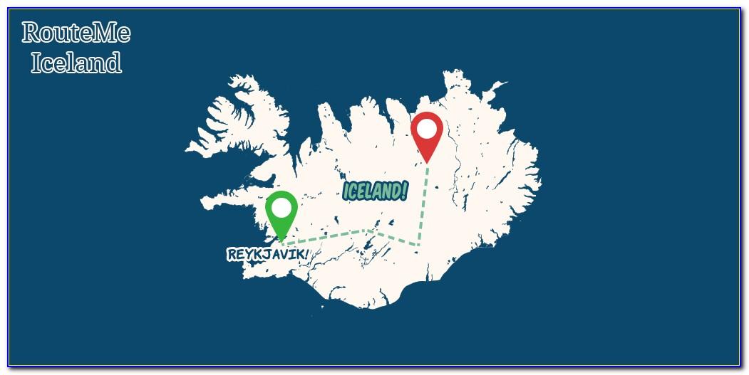 Iceland Road Map Offline