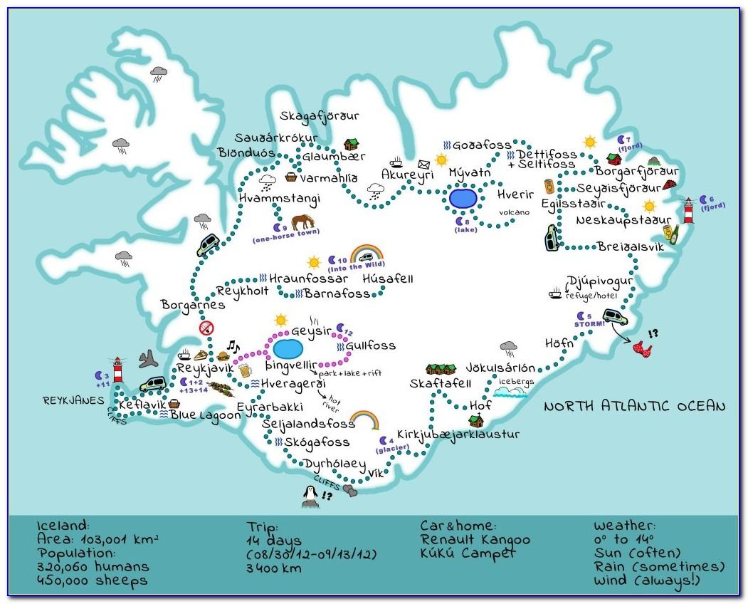 Iceland Road Trip Maps