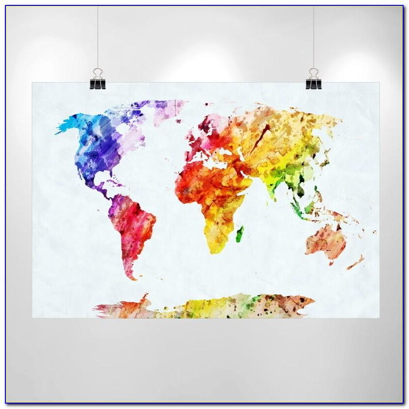 Ikea World Map Poster