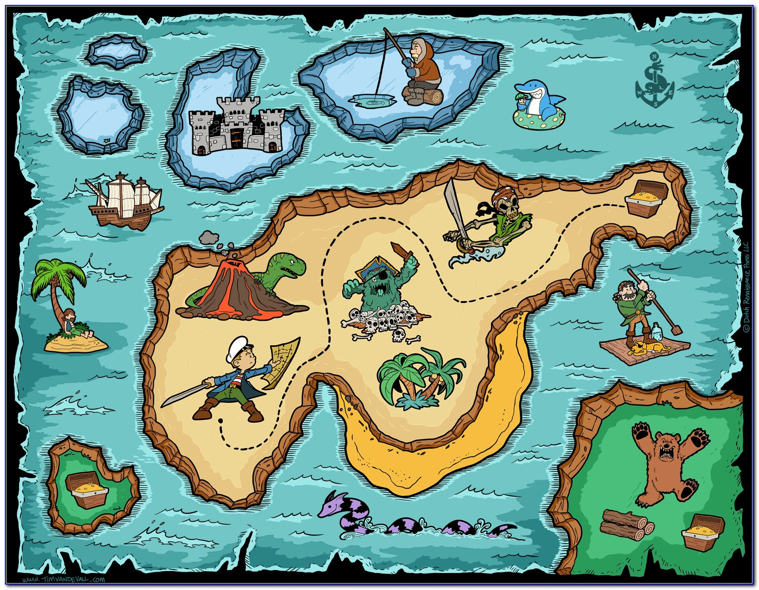 Image Of A Pirate Treasure Map