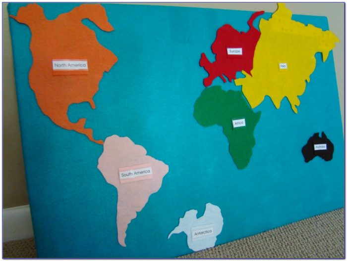 Interactive Continent Map Puzzle