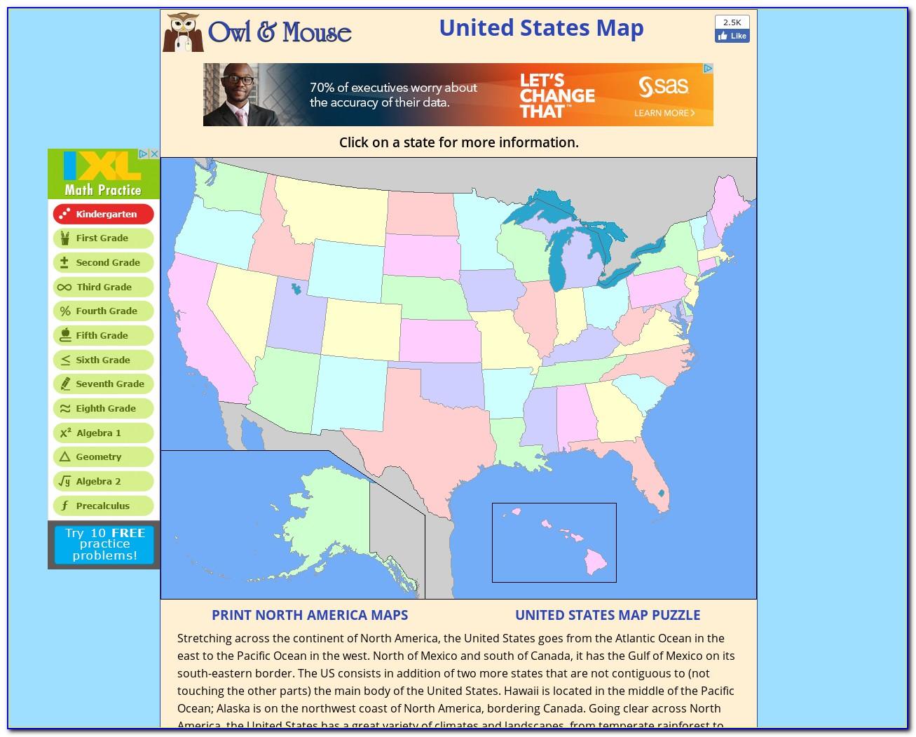 Interactive Map Of Australia Puzzle