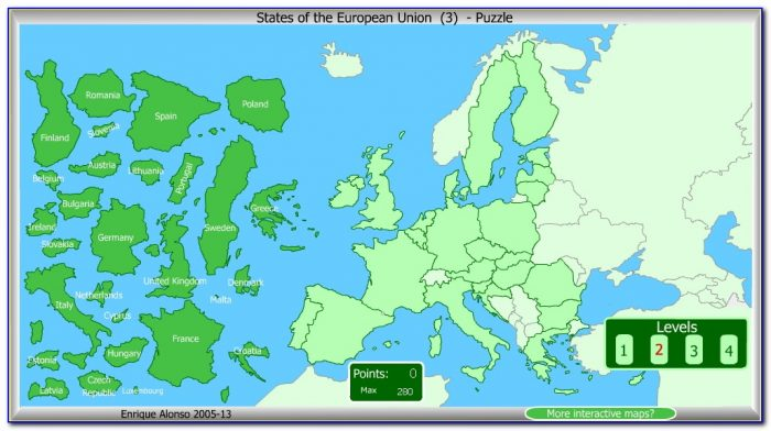 Interactive Map Puzzle Europe