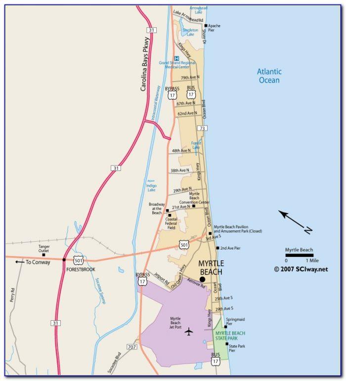 Interactive Myrtle Beach Golf Map