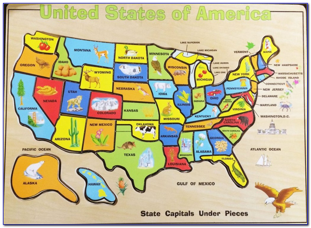 Interactive Us Map Puzzle