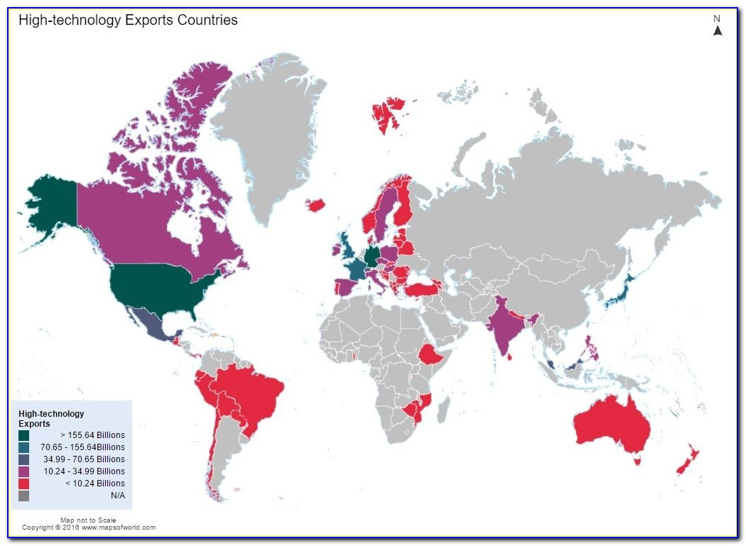 Interactive World Map Colour Countries