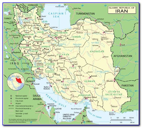 Iran Map Vector Free Download