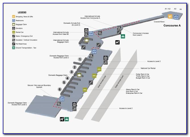 Jacksonville Airport Long Term Parking Map