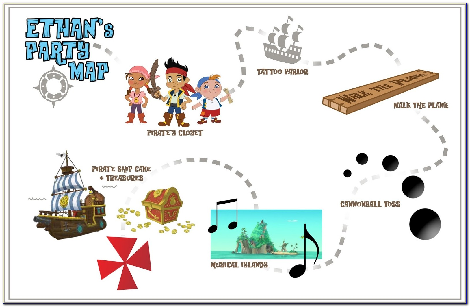 Jake And The Neverland Pirates Tricks And Traps Treasure Map Game Instructions
