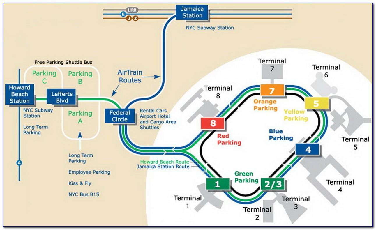 Jfk Airport Long Term Parking Map