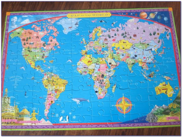 Jigsaw Puzzle World Map Online