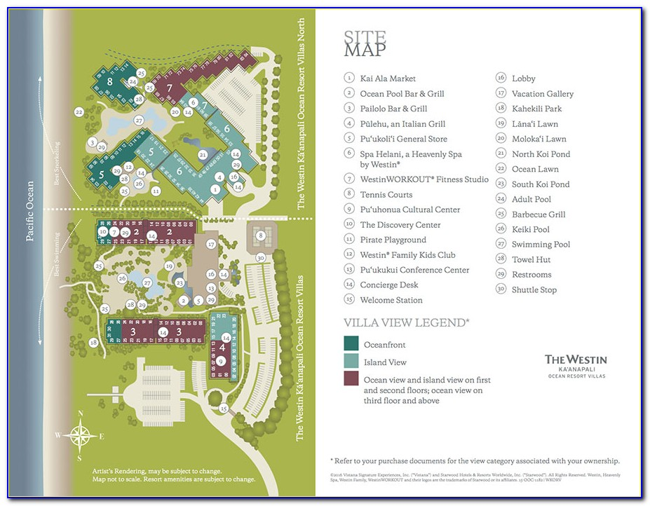 Kaanapali Beach Club Map