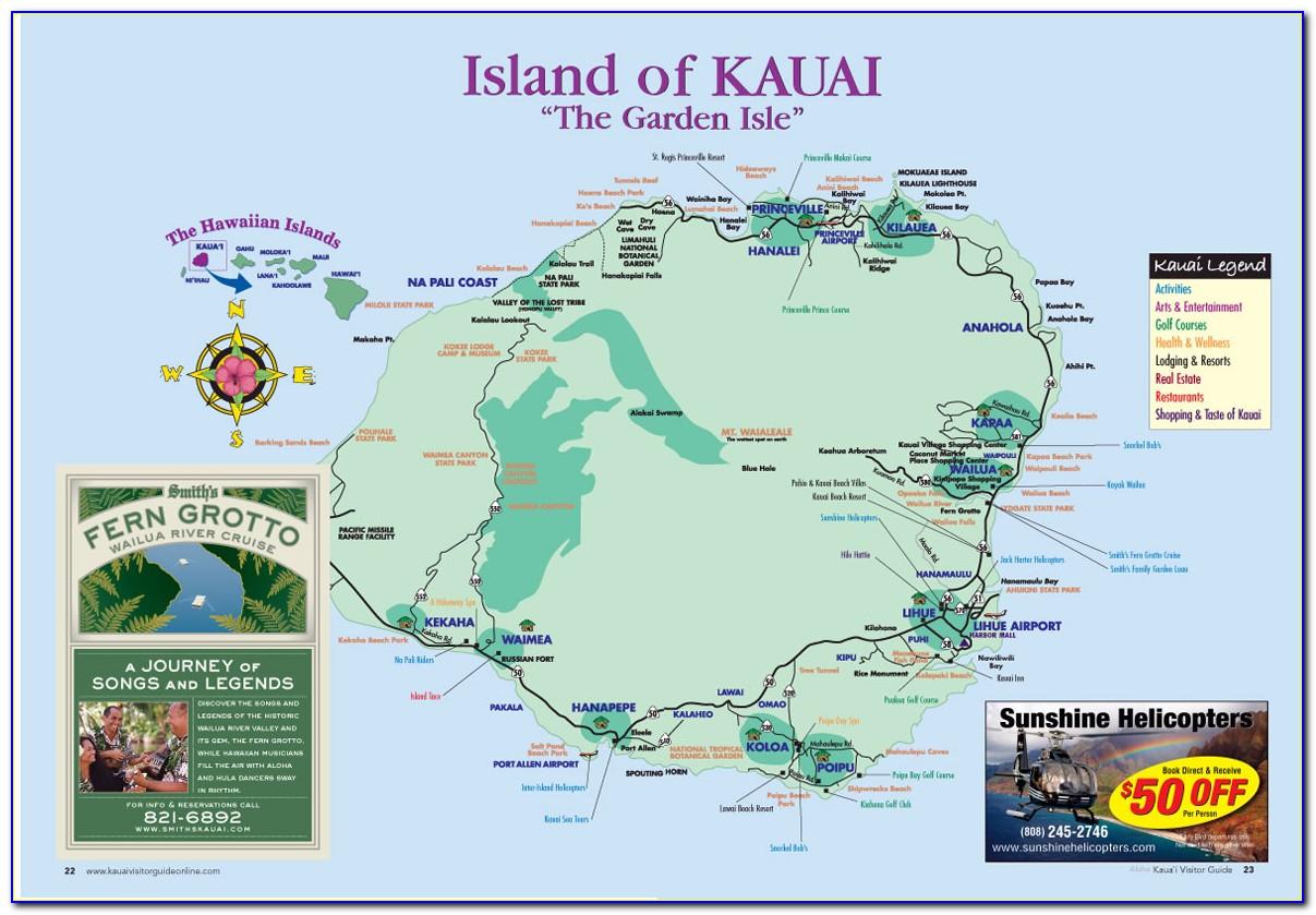 Kauai Island Map Hotels