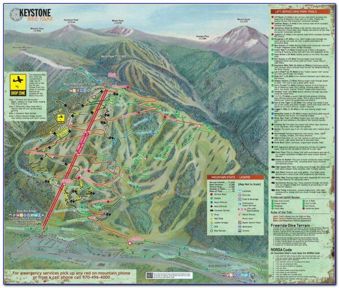 Keystone Bike Path Map