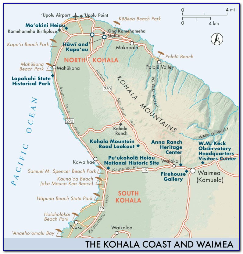 Kohala Coast Resorts Map