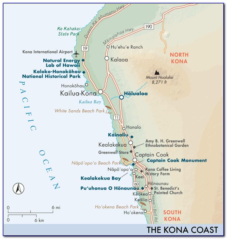Kona Accommodation Map