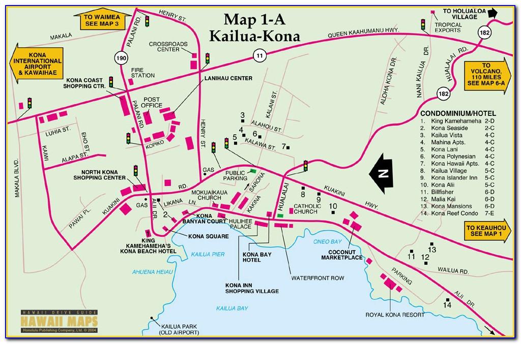 Kona Coast Hotel Map