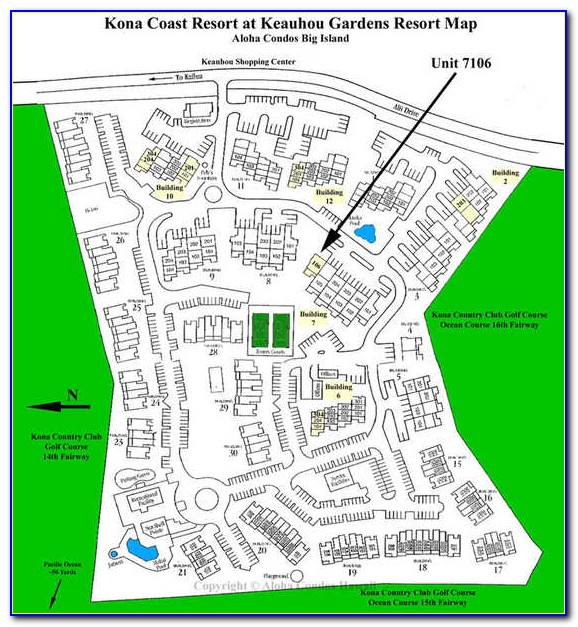 Kona Coast Resort Map