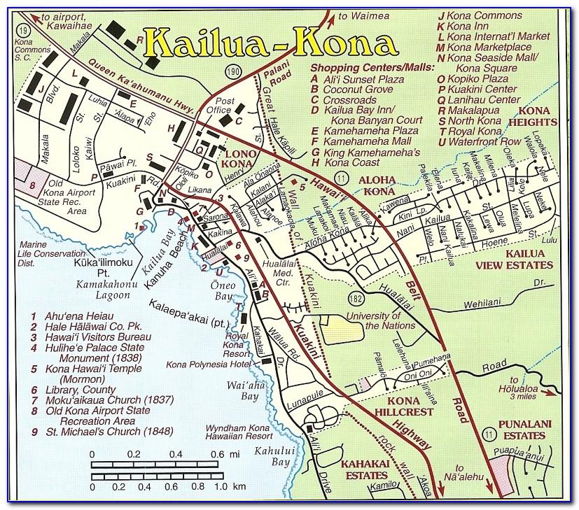 Kona Coast Resort Site Map