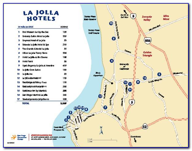 La Jolla Hotels Map