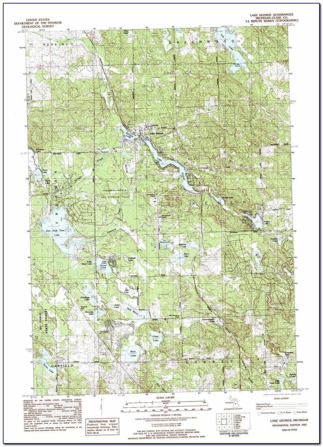 Lake George Topo Map