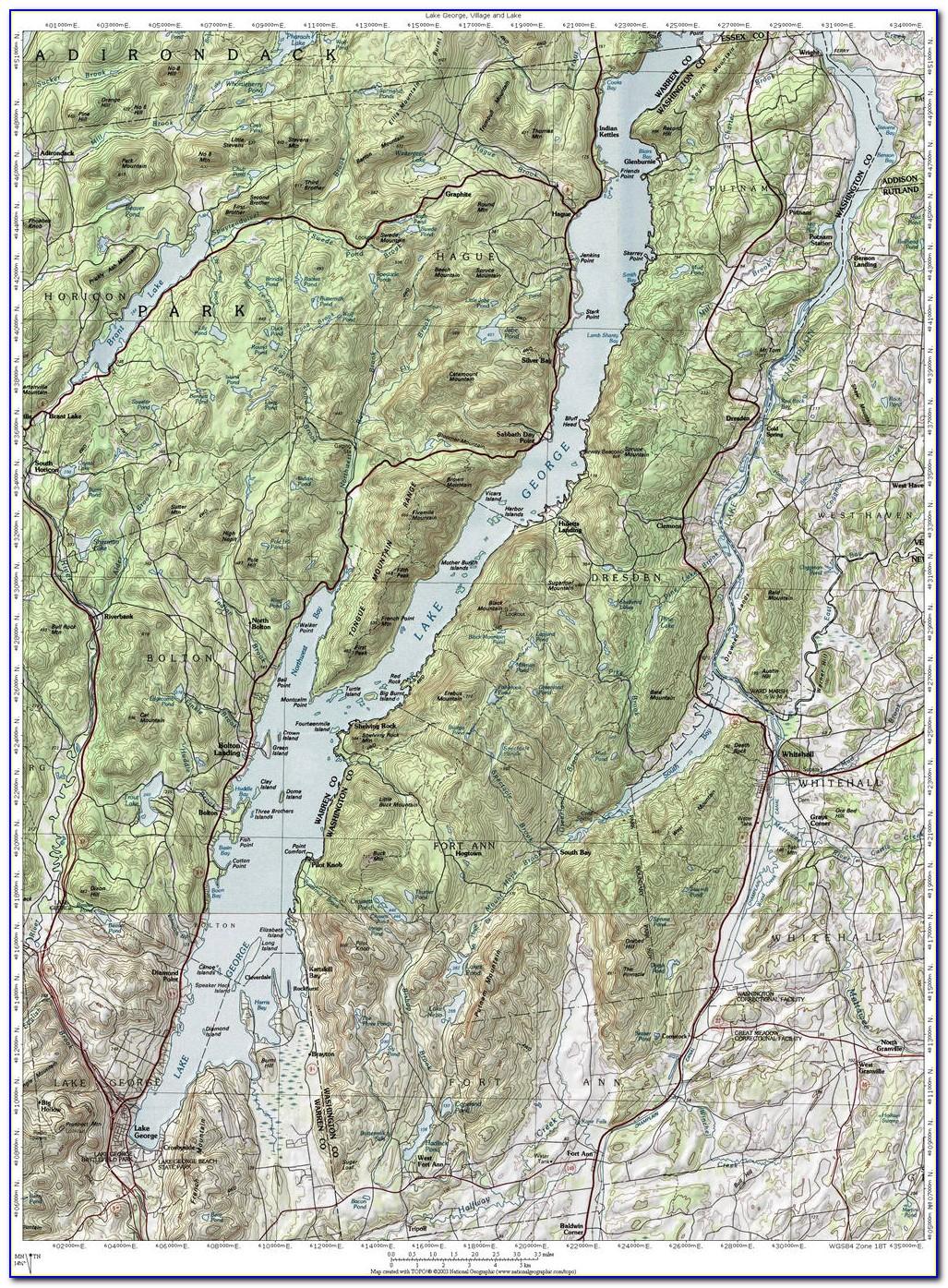 Lake George Topographic Map