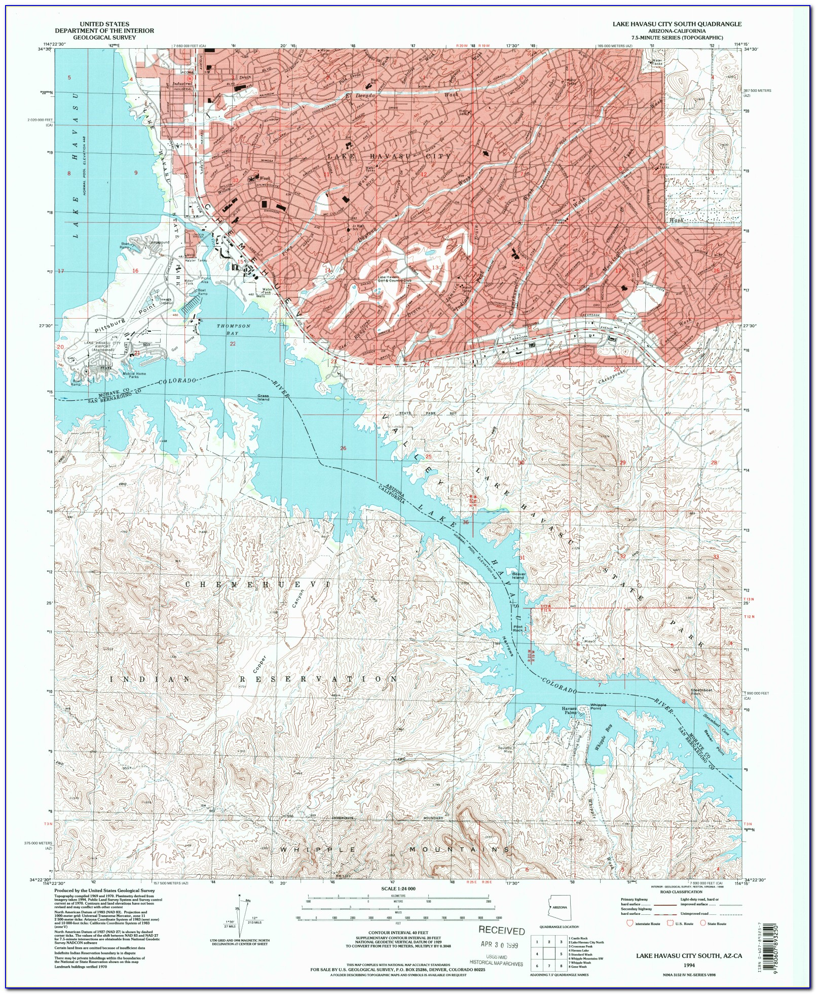 Lake Havasu Fish Habitat Map