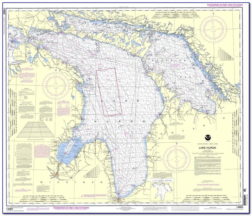 Lake Huron Boating Map