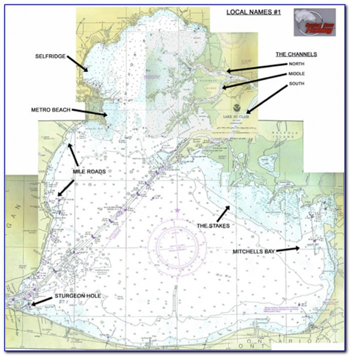 Lake St Clair Fishing Hot Spots Map